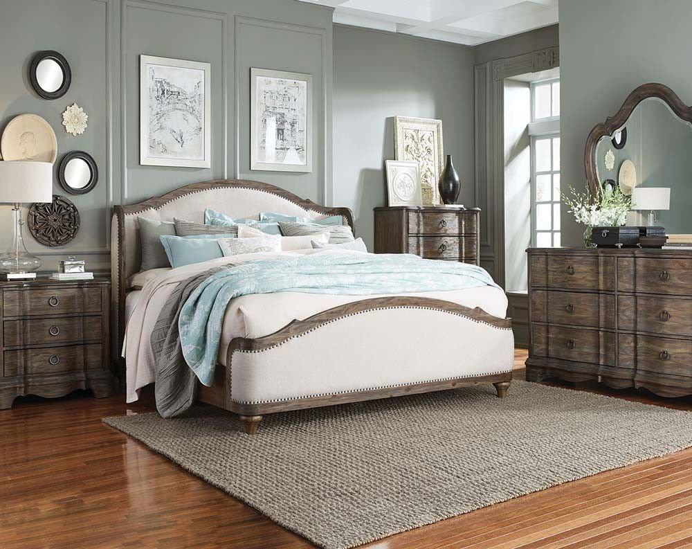 Best White Upholstered Headboard Brown Wood Trim Parliament With Pictures