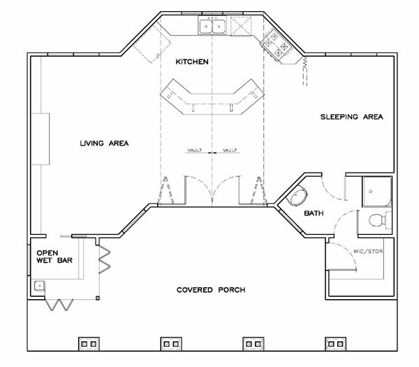 Best Coastal Cottage Craftsman Style House Plan With 701 Sq Ft With Pictures