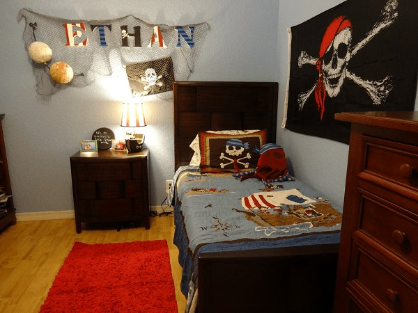 Best Kids Pirate Bedroom Decor Rustic Vintage Skull And With Pictures