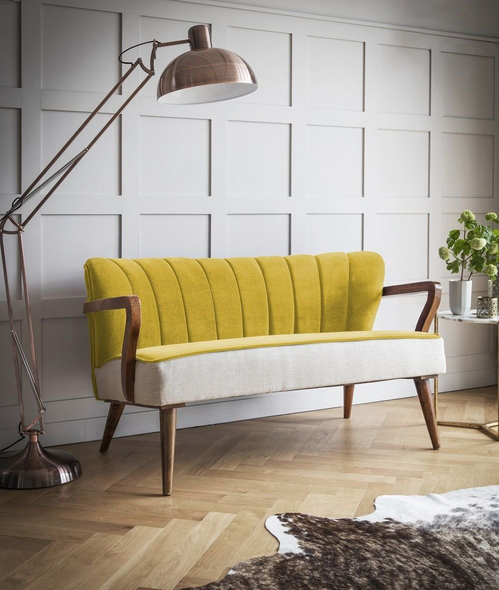 Best Mustard Sofa Tallulah Two Seater Sofa Mouthwatering With Pictures
