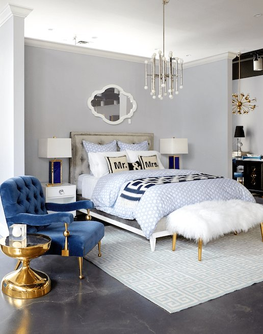 Best A Blue Themed Bedroom From The Jonathan Adler Store On With Pictures