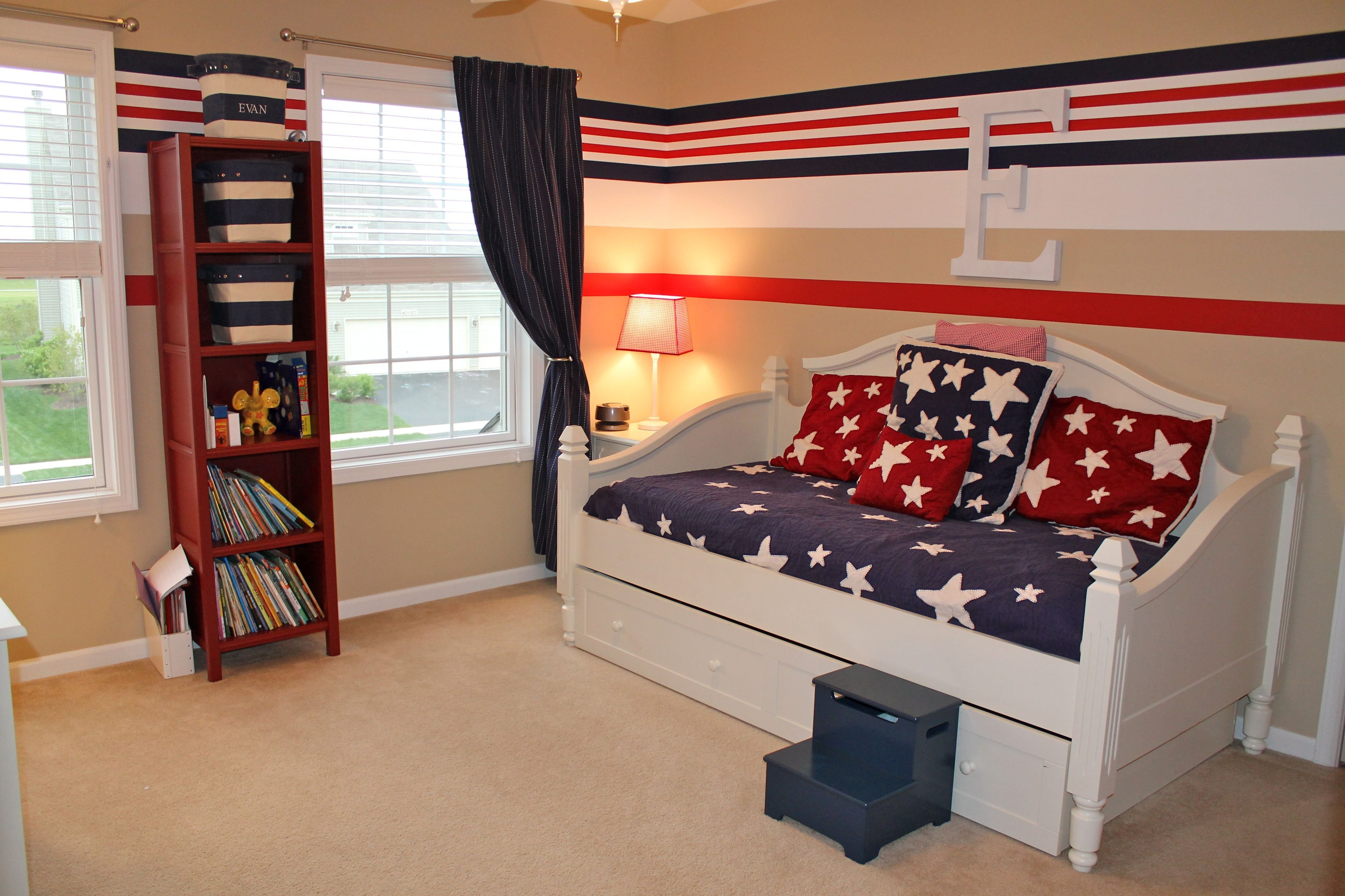 Best Red White Blue Bedroom Red White And Blue Boy S Bedroom With Pictures