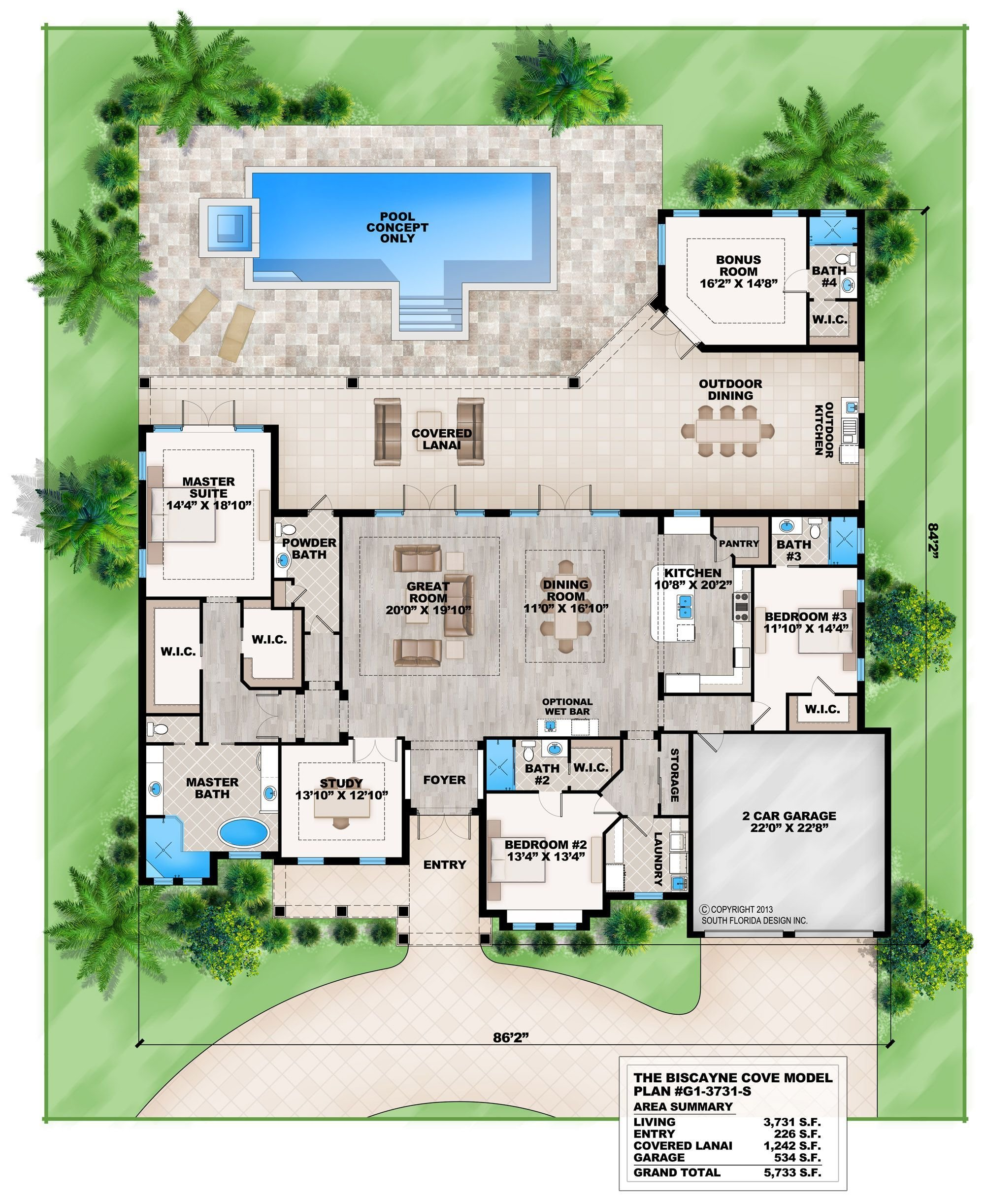 Best This 4 Bedroom Coastal Contemporary House Plan Features A With Pictures