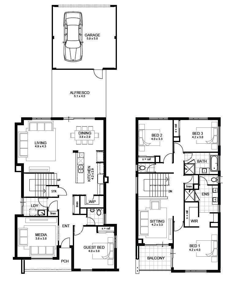 Best 3 Bedroom House Designs Perth Double Storey Apg Homes With Pictures