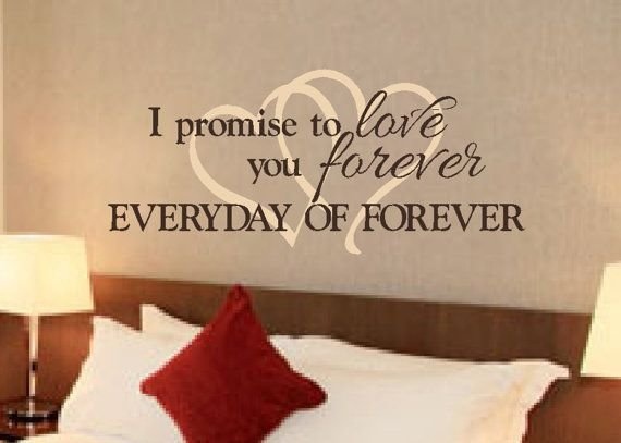 Best Romantic Sayings Vinyl Wall Art Master Bedroom By With Pictures