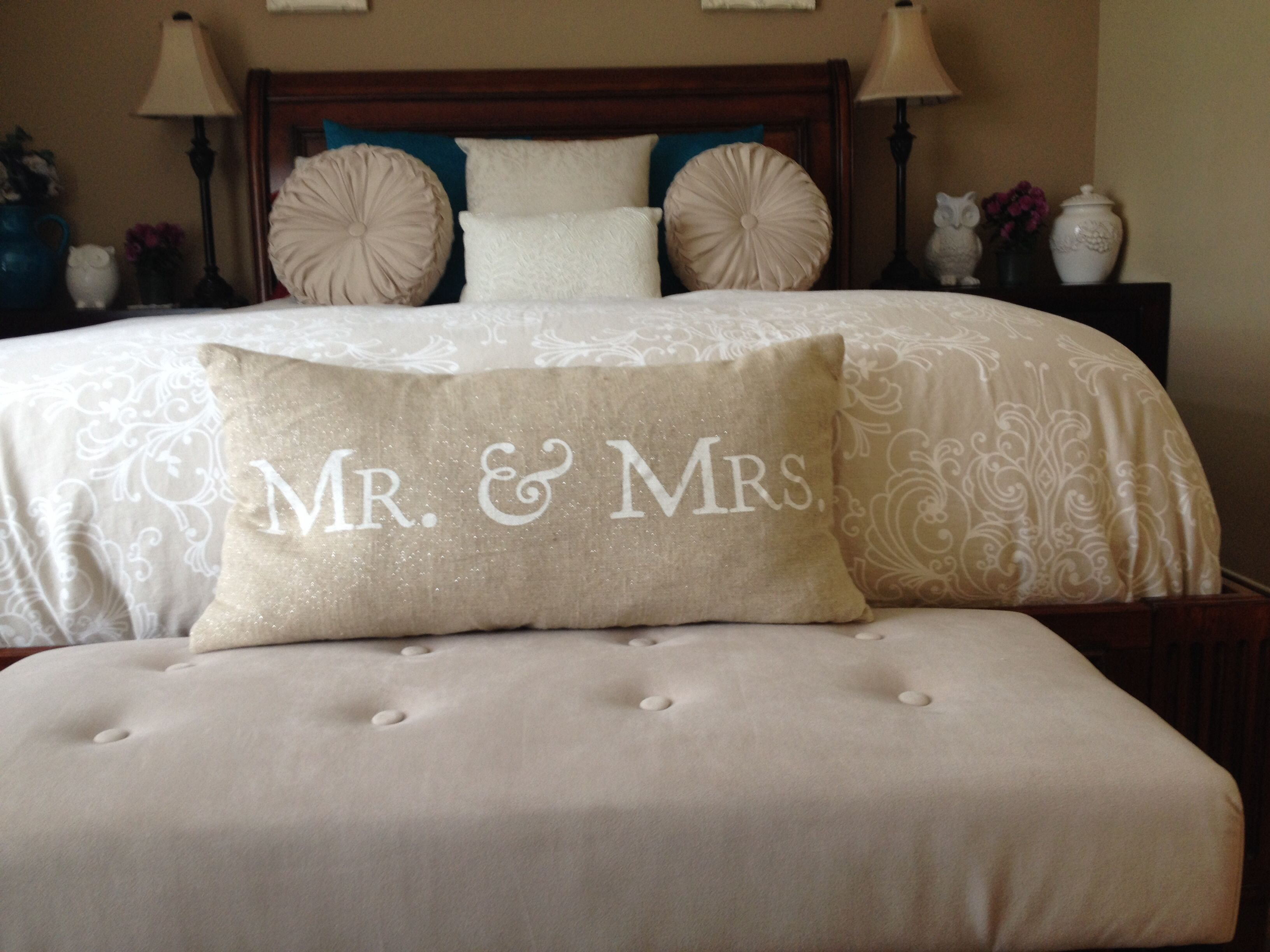 Best Mr And Mrs Throw Pillow Bedroom Decor Remodeling Bedroom With Pictures