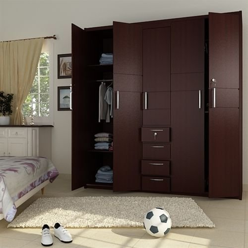 Best 5 Doors Wooden Wardrobe Hpd441 Fitted Wardrobes Al With Pictures