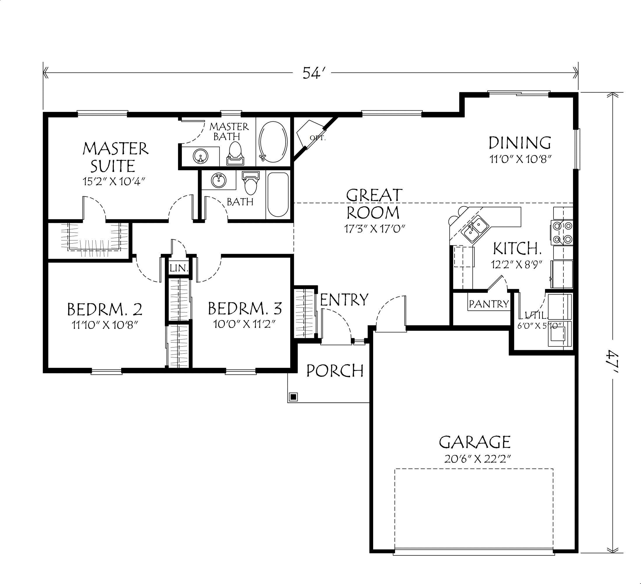 Best Single Story Open Floor Plans Single Story Plan 3 With Pictures