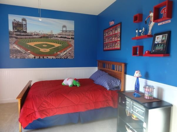 Best Phillies Phan Bedroom For A 6 Year Old Boy For The With Pictures