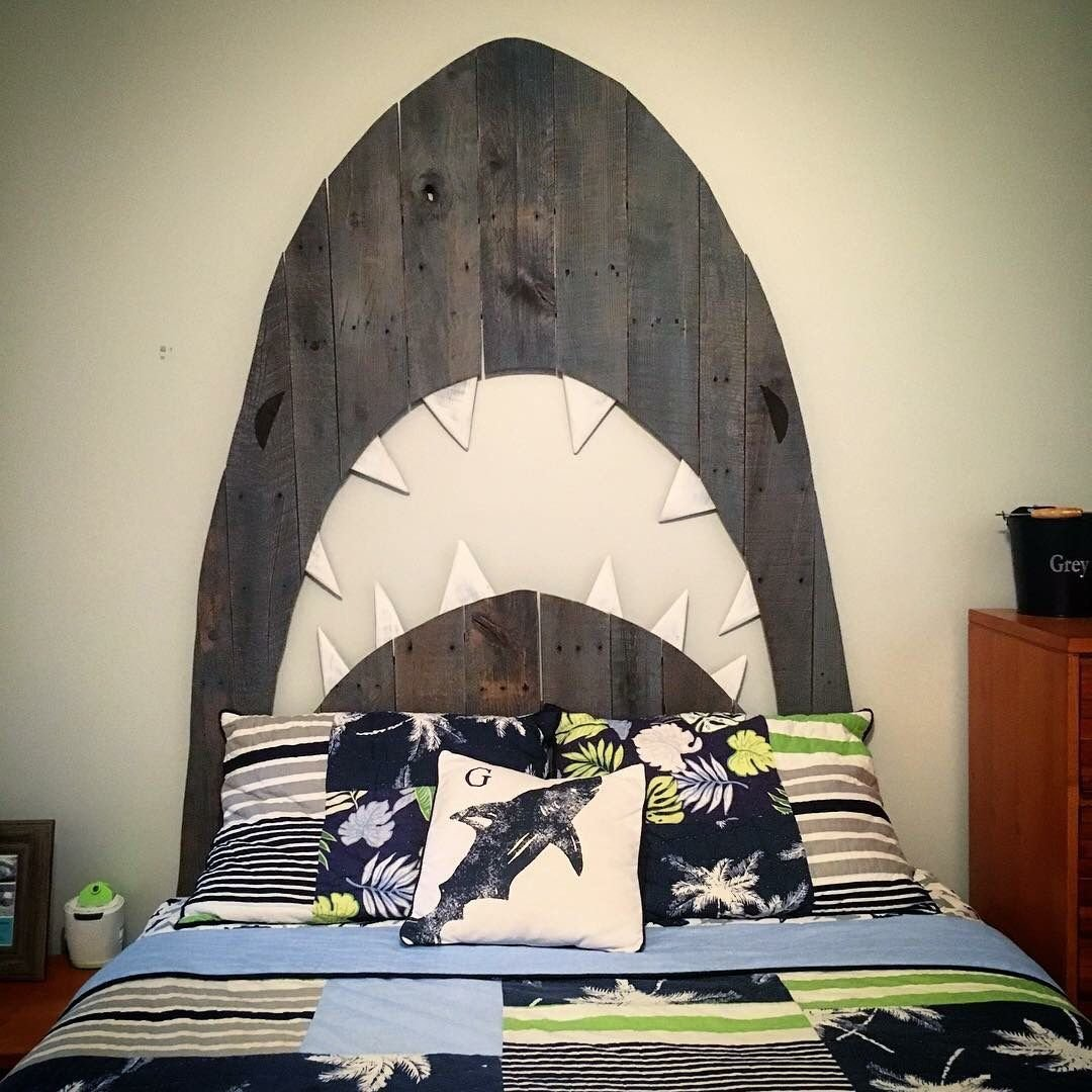 Best Custom Shark Pallet Headboard By Hoeller Designs With Pictures