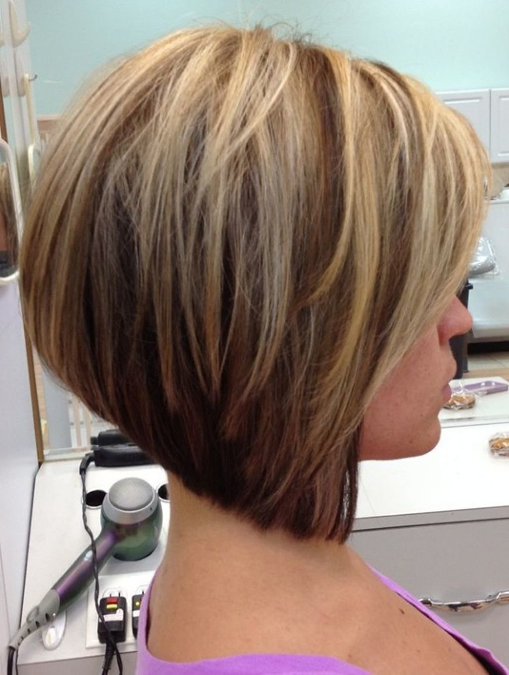 Free Hairstyles Short Stacked Bob Hairstyles Back View Top Wallpaper