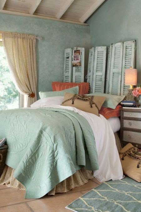 Best Blue Coral And Beige Bedroom With Pictures