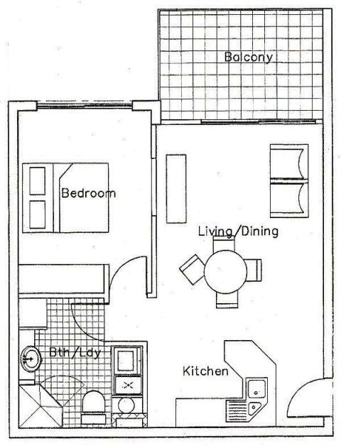 Best Apartments 1 Bedroom Floor Plan Palm Cove Tropic With Pictures