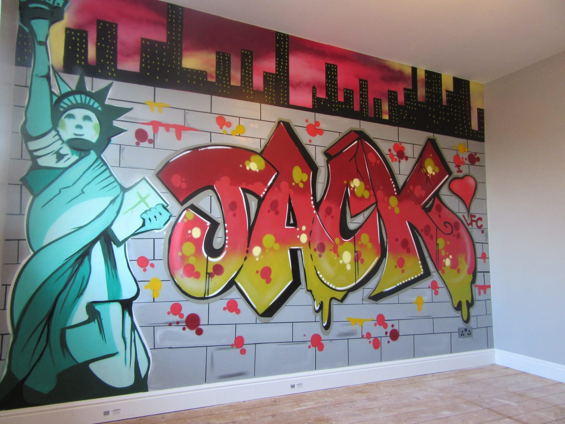 Best Bedroom Wall Graffiti Murals With Pictures