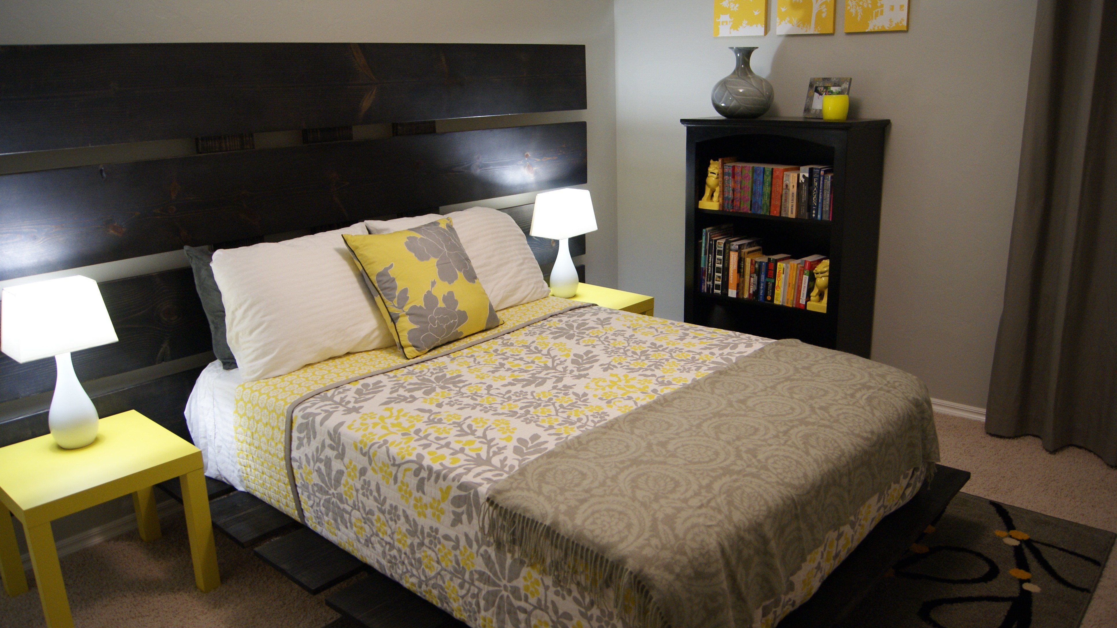 Best Yellow And Gray Bedroom Update Living Small With Pictures