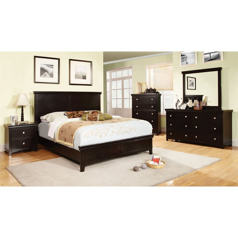 Best Furniture Of America Fanquite 4 Piece Queen Bedroom Set In With Pictures