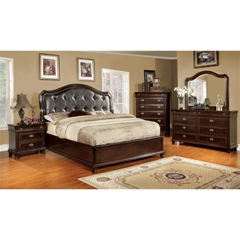 Best Furniture Of America Semptus 4 Piece Queen Bedroom Set In With Pictures