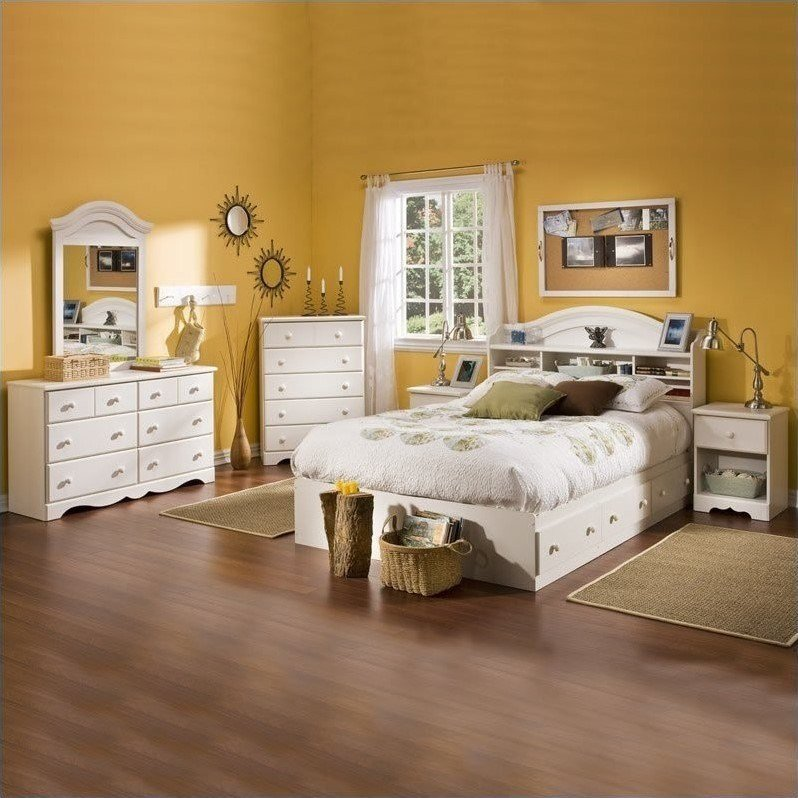 Best South Shore Summer Breeze Full Size Kids 6 Piece Bedroom With Pictures