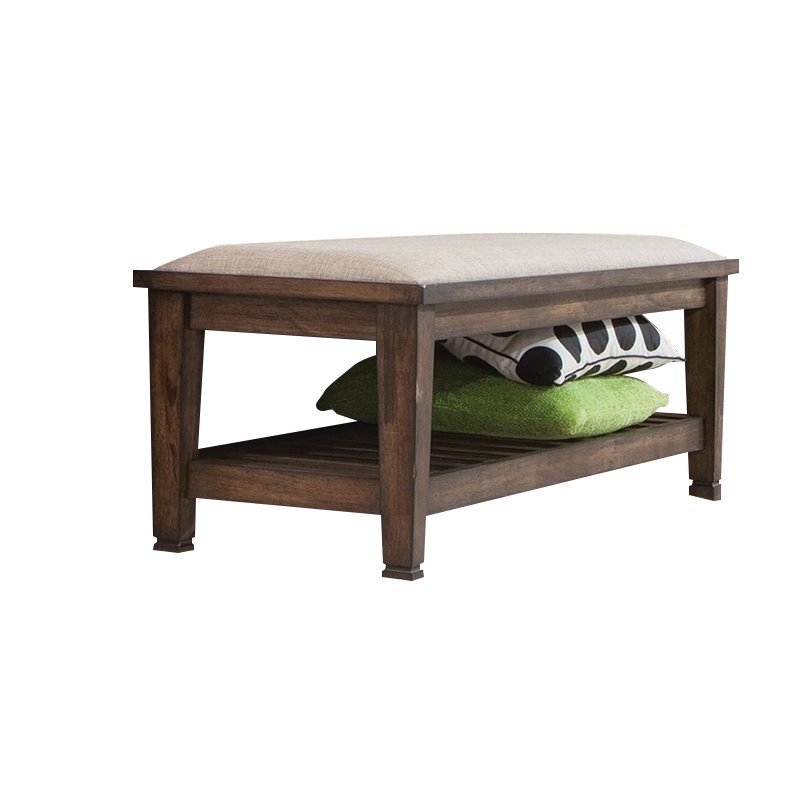 Best Coaster Bedroom Bench In Burnished Oak 200977 With Pictures