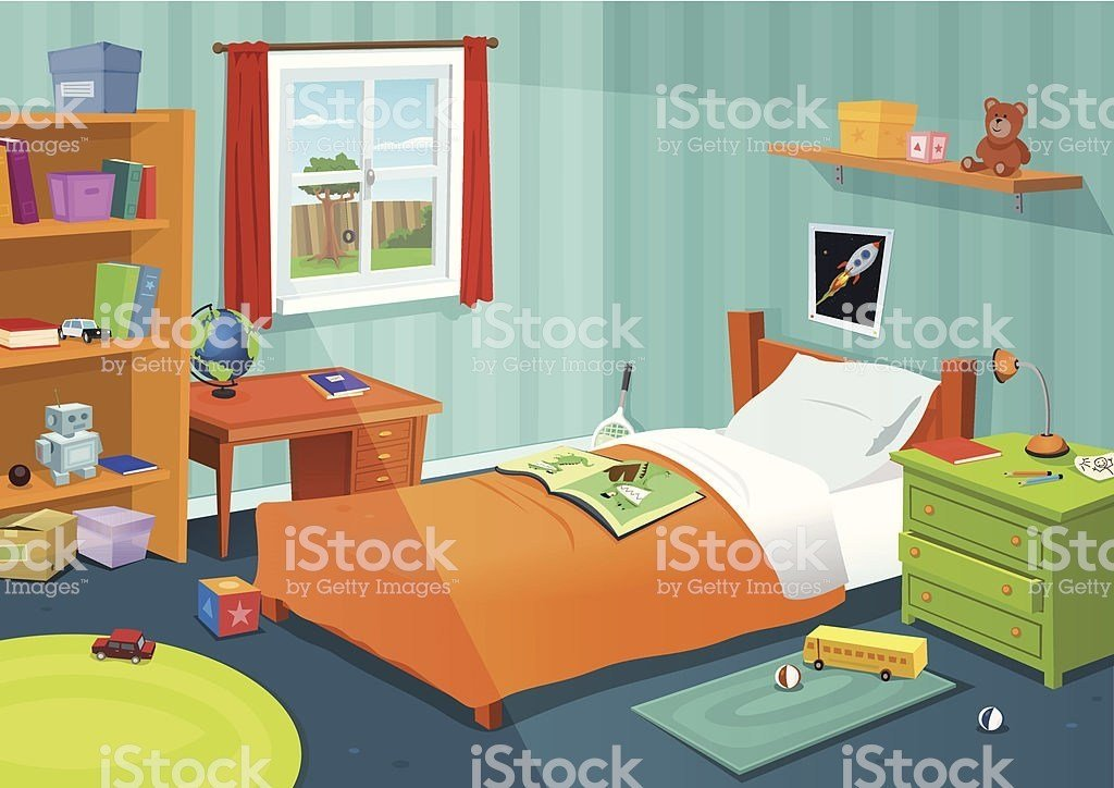 Best Royalty Free Bedroom Clip Art Vector Images With Pictures