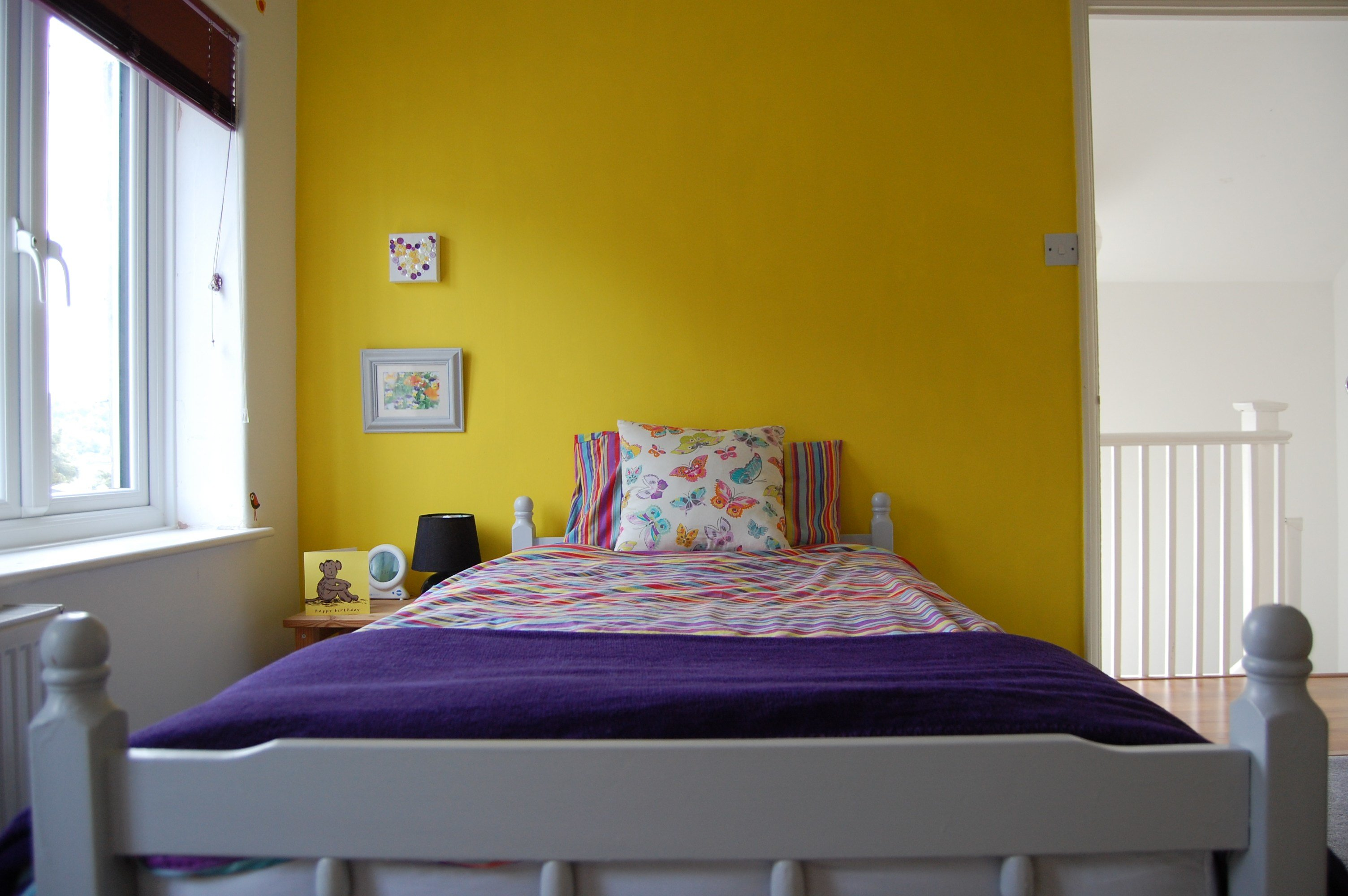 Best 3 Year Old Girl's Yellow And Purple Bedroom – Paint Chart Joy With Pictures