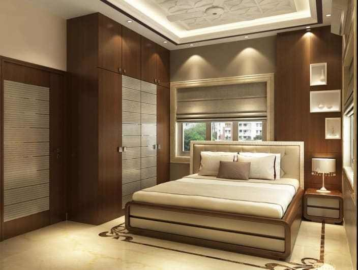 Best Modern Bedroom With Wooden Designed Wall And Wardrobe By With Pictures