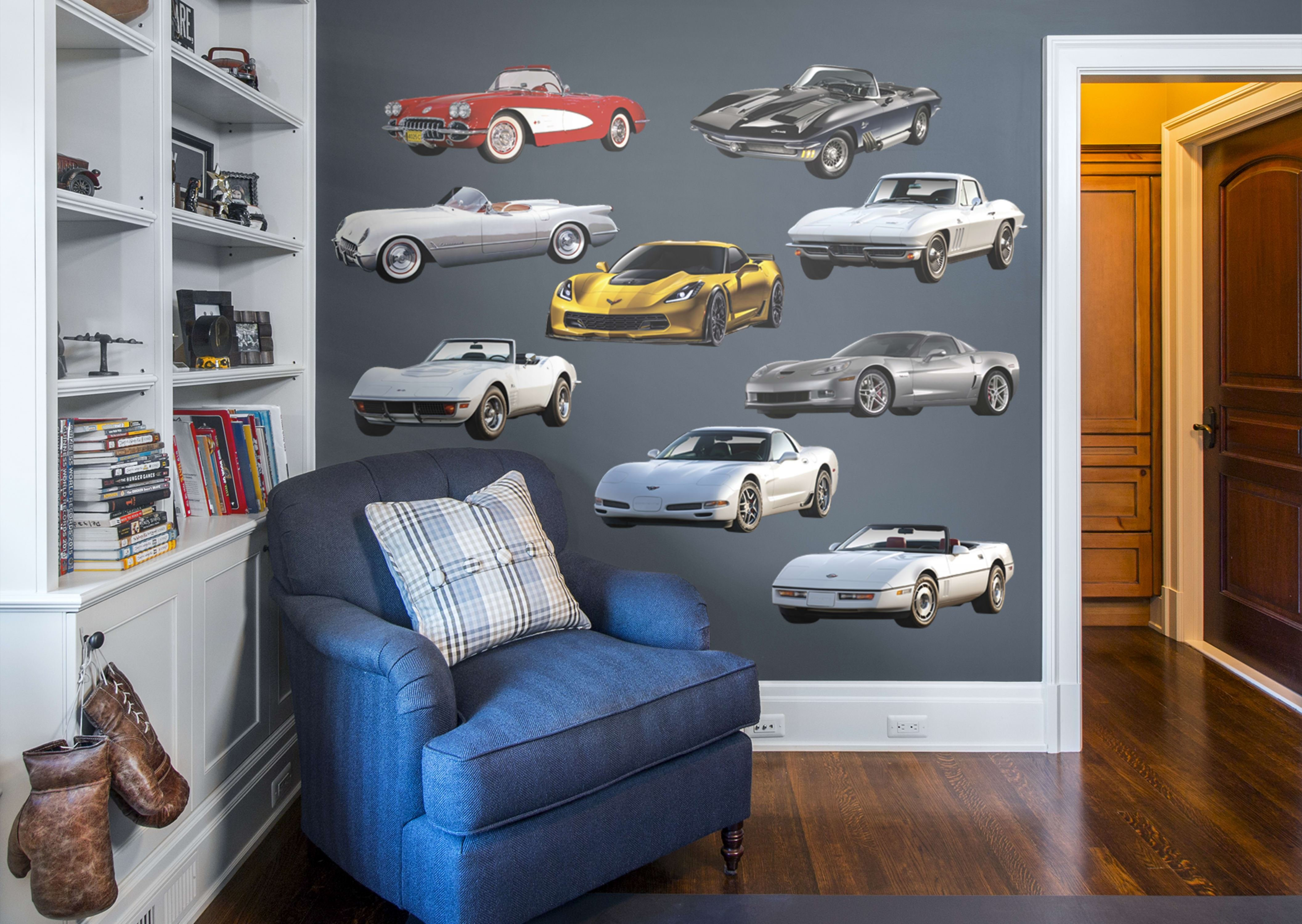 Best Corvette Generations Collection Wall Decal Shop Fathead® For General Motors Decor With Pictures