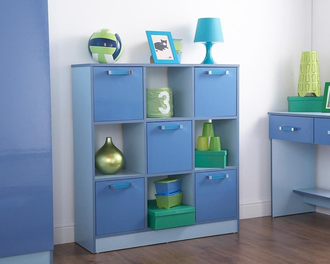 Best Ottawa 2 Tone Blue 3X3 Storage Cube Boys Childrens With Pictures