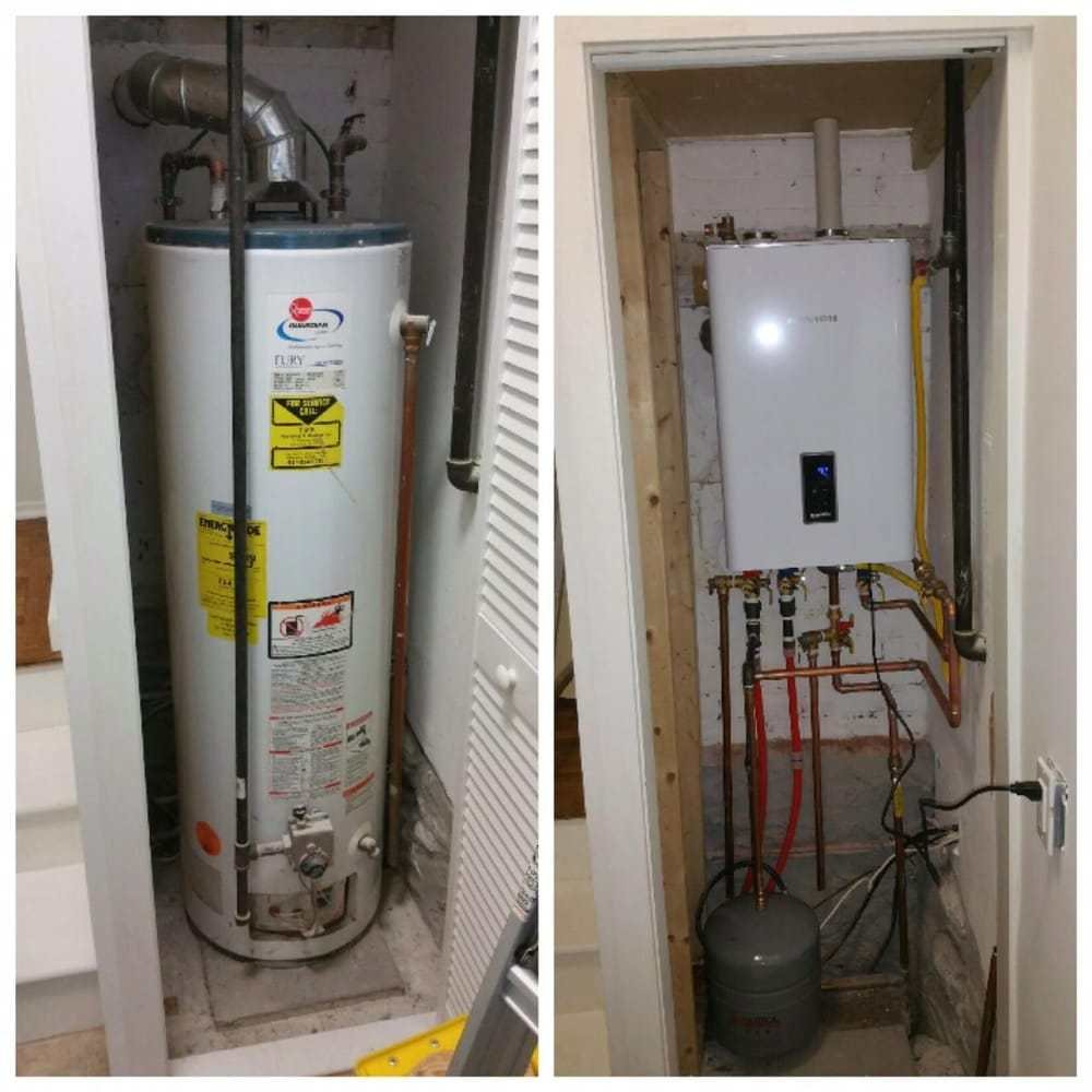 Best Old Water Heater In Laundry Room Closet Replaced With With Pictures