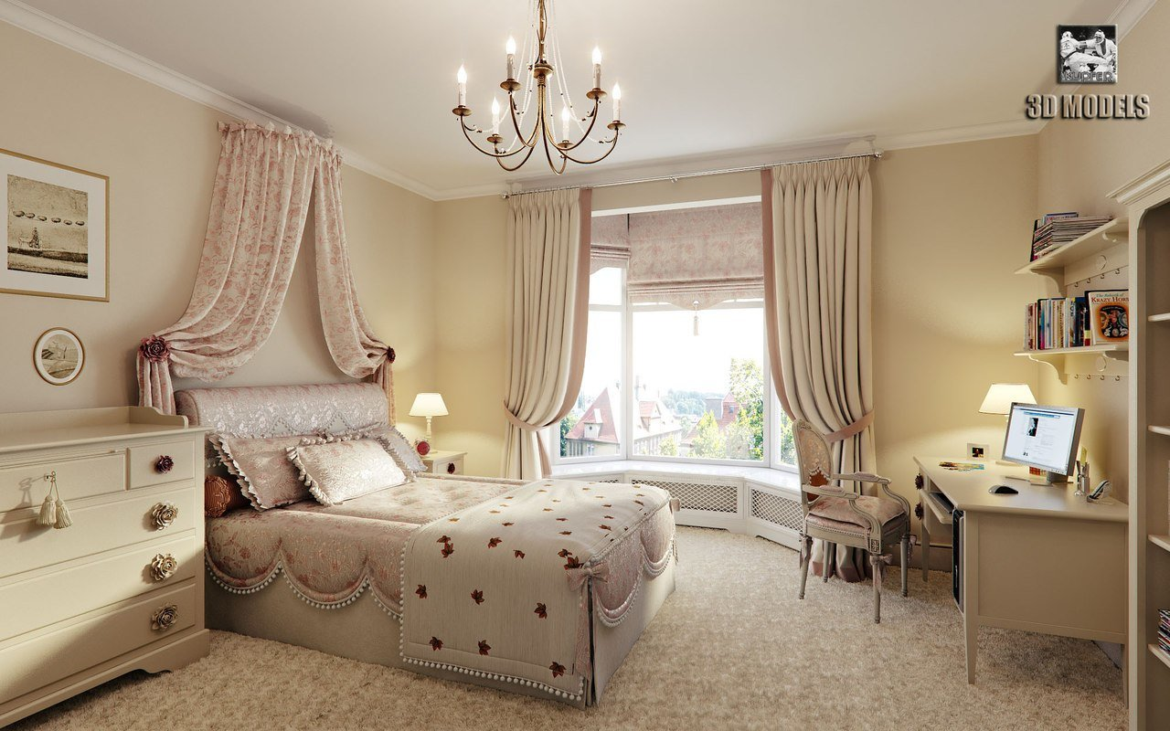 Best Bedroom Girl Townhouse 3D Max With Pictures