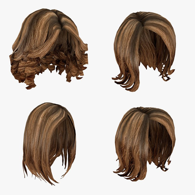 Free 3D Model Of Female Hairstyles Pack Wallpaper