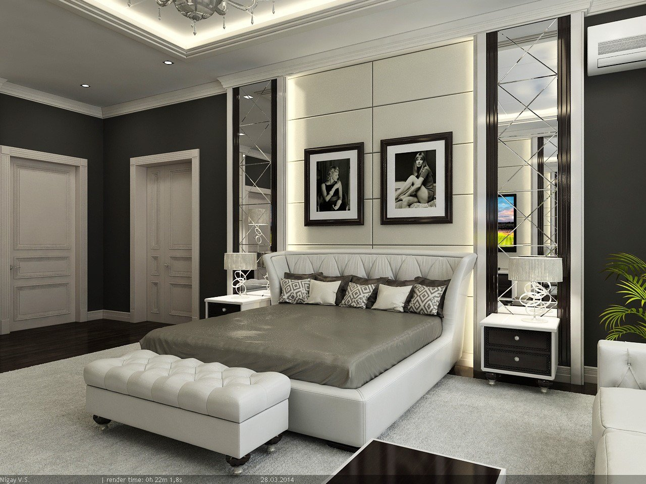 Best Interior Master Bedroom 3D Model With Pictures