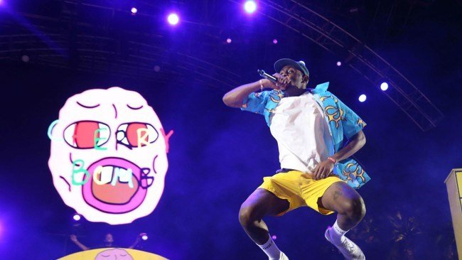 Best Tyler The Creator Turns Coachella Stage Into His Bedroom Vibe With Pictures