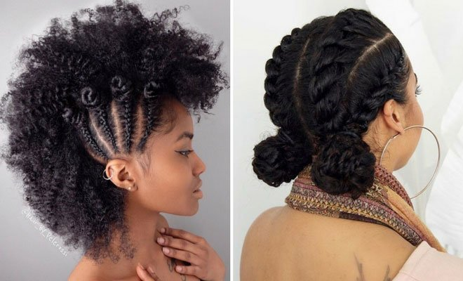 Free 21 Chic And Easy Updo Hairstyles For Natural Hair Stayglam Wallpaper