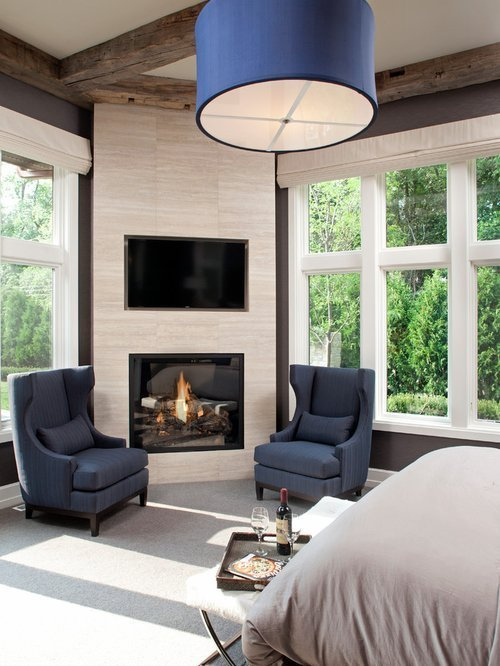 Best 25 Best Bedroom With A Corner Fireplace Ideas Photos Houzz With Pictures