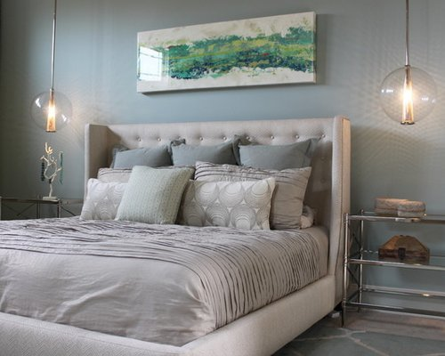 Best Blue And Gray Bedroom Design Ideas Remodel Pictures Houzz With Pictures