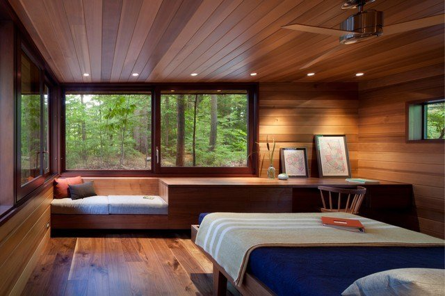 Best Frank Lloyd Wright Inspired Lakeside Home Modern With Pictures