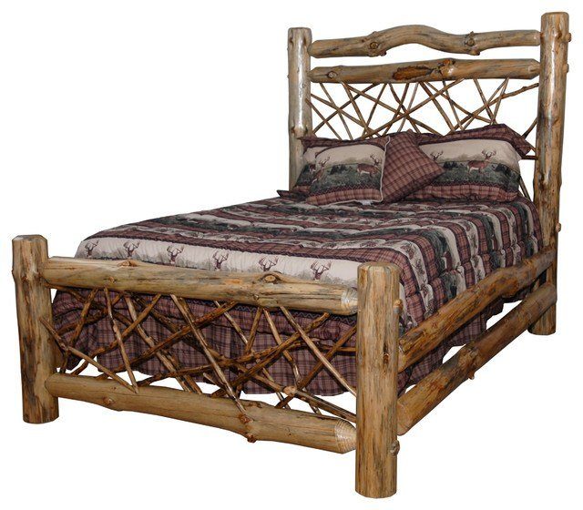 Best Furniture Barn Usa Rustic Pine Log Queen Size Twig Bed With Pictures