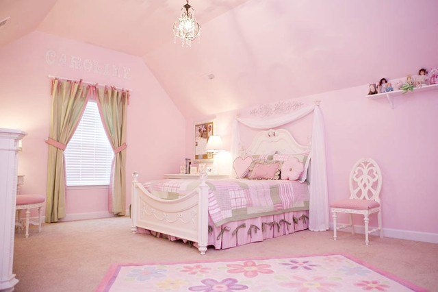 Best Pretty In Pink Little Girls Bedroom Traditional Kids With Pictures