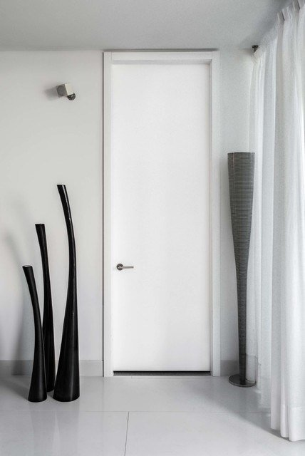 Best Tall White Modern Bedroom Door Modern Entry Miami With Pictures