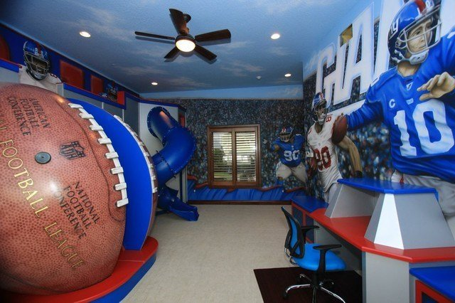 Best Nfl Giants Themed Room Traditional Kids Richmond With Pictures