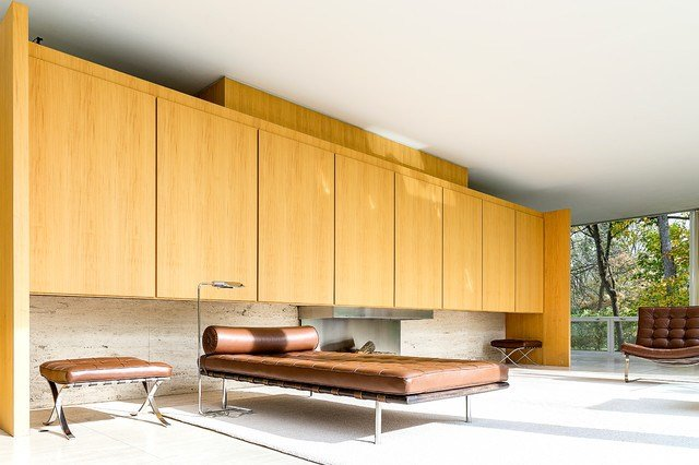 Best Farnsworth House Modern Living Room Chicago By Travis Stansel Architectural Photography With Pictures