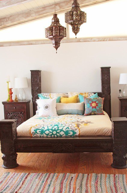 Best Indian Bed Indian Bedroom Los Angeles By Tara Design With Pictures