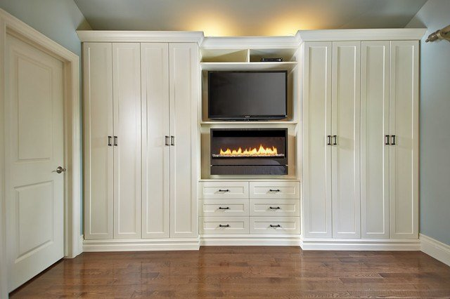 Best Antique White Wall Unit Contemporary Bedroom Toronto With Pictures