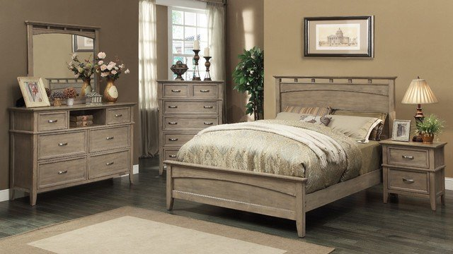 Best South Beach Queen Size Bed In Weathered Oak Modern With Pictures