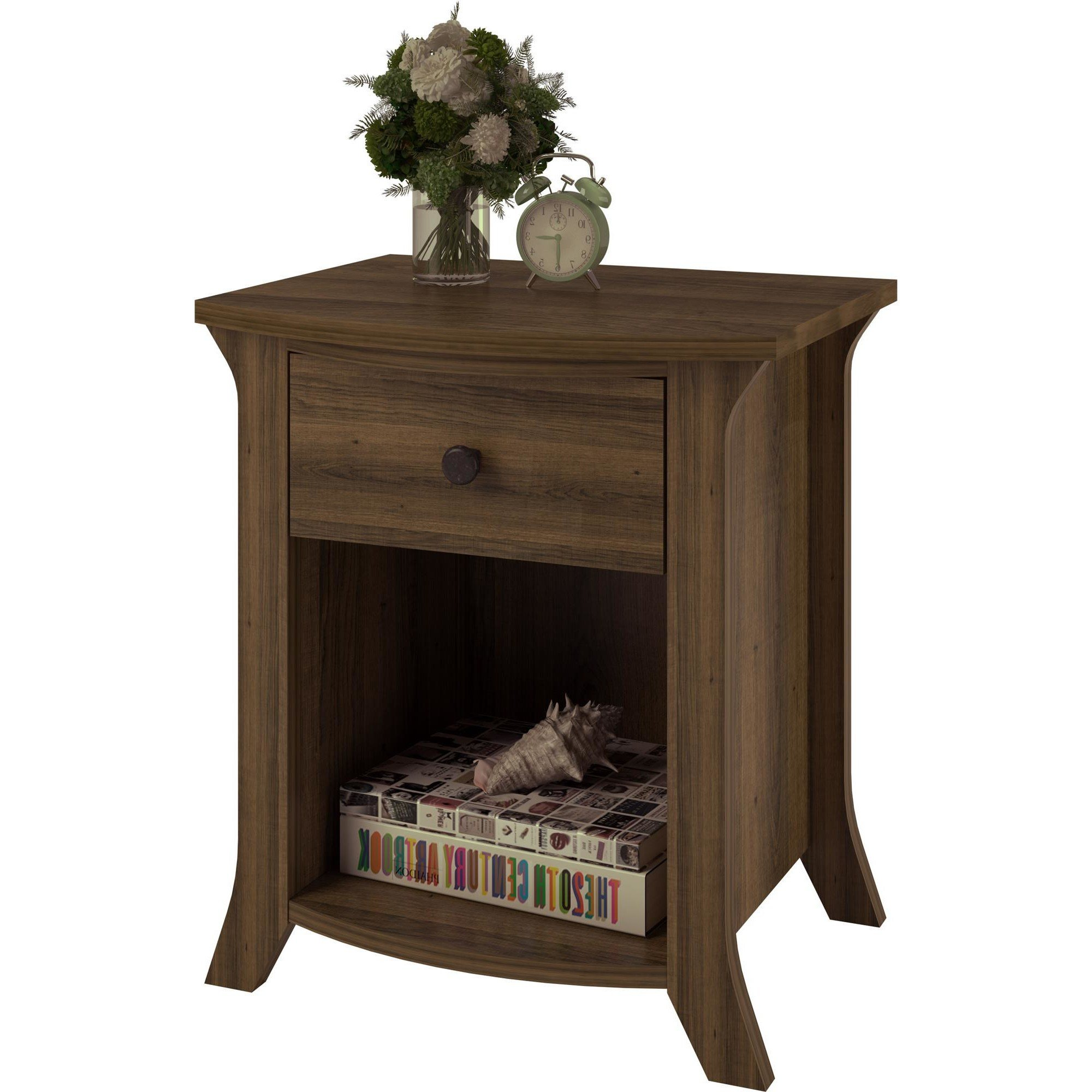 Best Altra Oakridge 1 Drawer Nightstand Reviews Wayfair With Pictures
