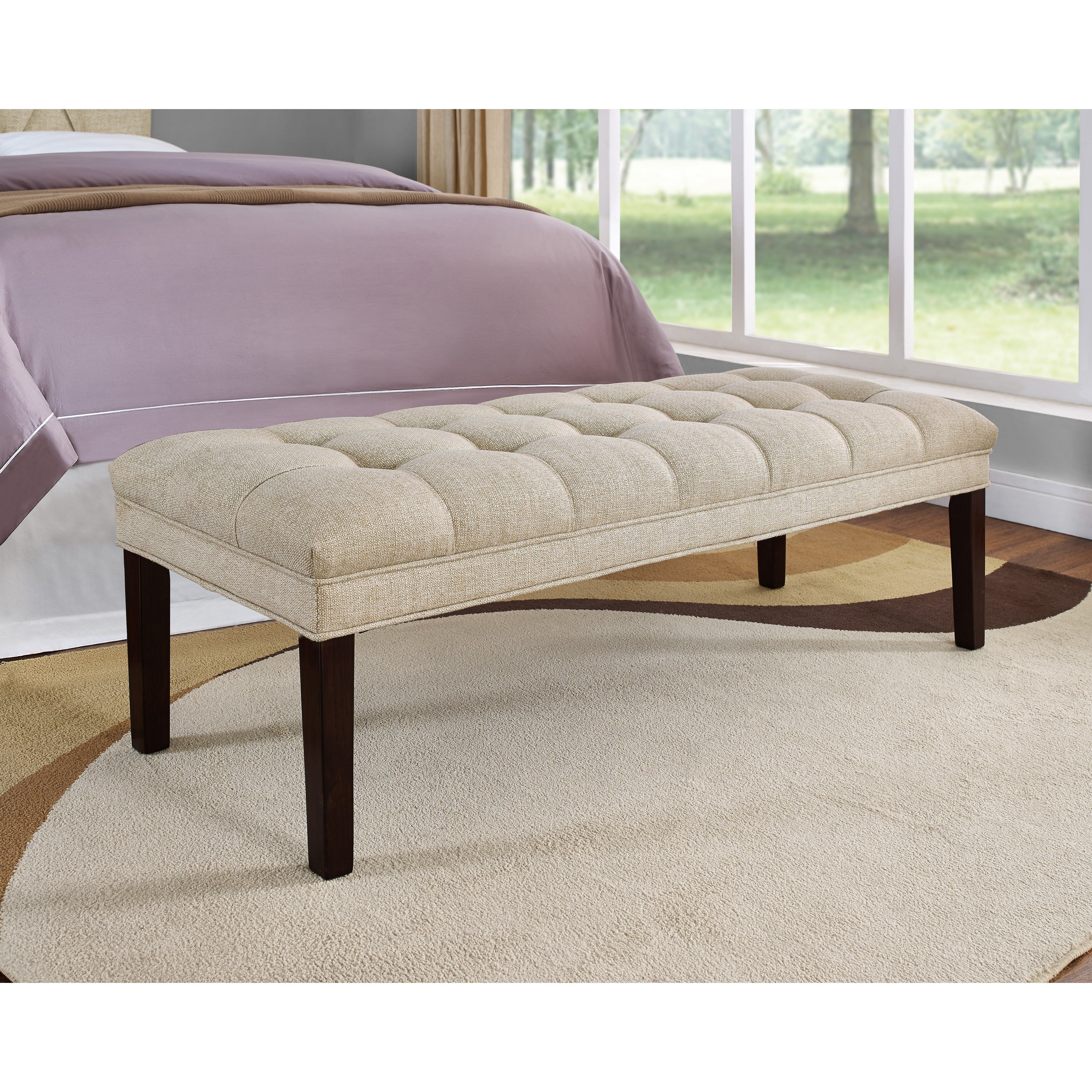 Best Upholstered Tufted Bedroom Bench Wayfair With Pictures