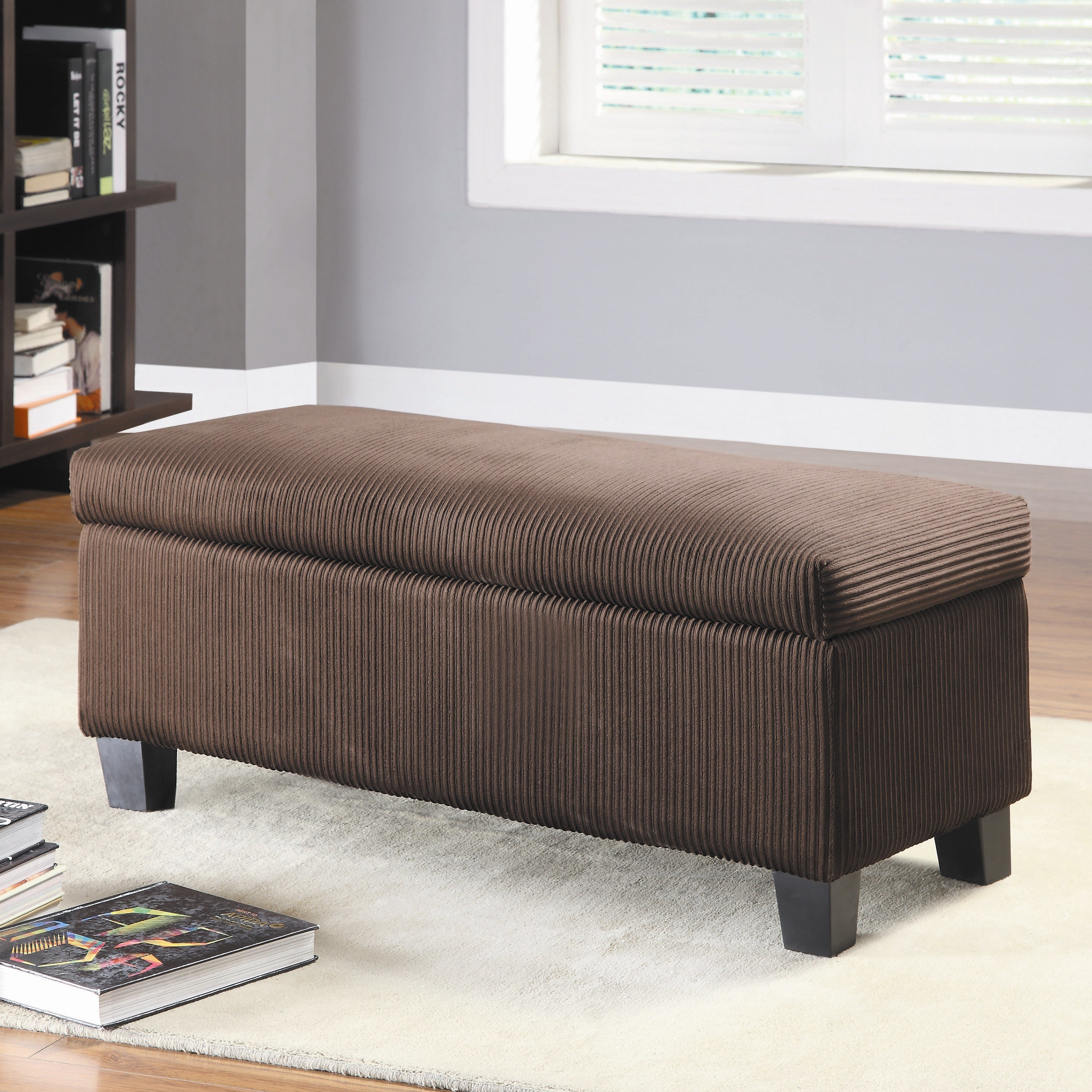 Best Clair New Fabric Bedroom Storage Ottoman Wayfair With Pictures