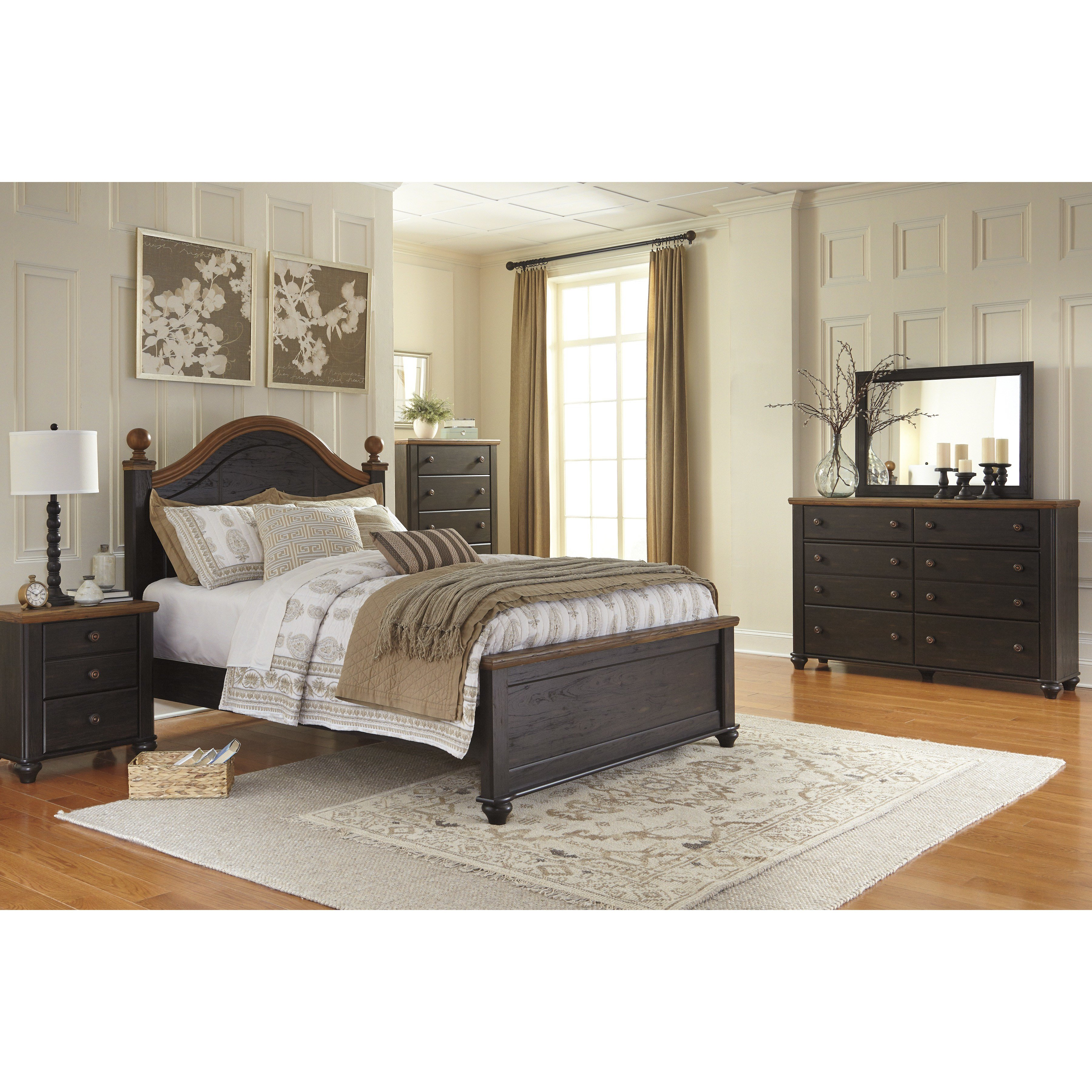 Best Signature Design By Ashley Panel Customizable Bedroom Set Reviews Wayfair With Pictures