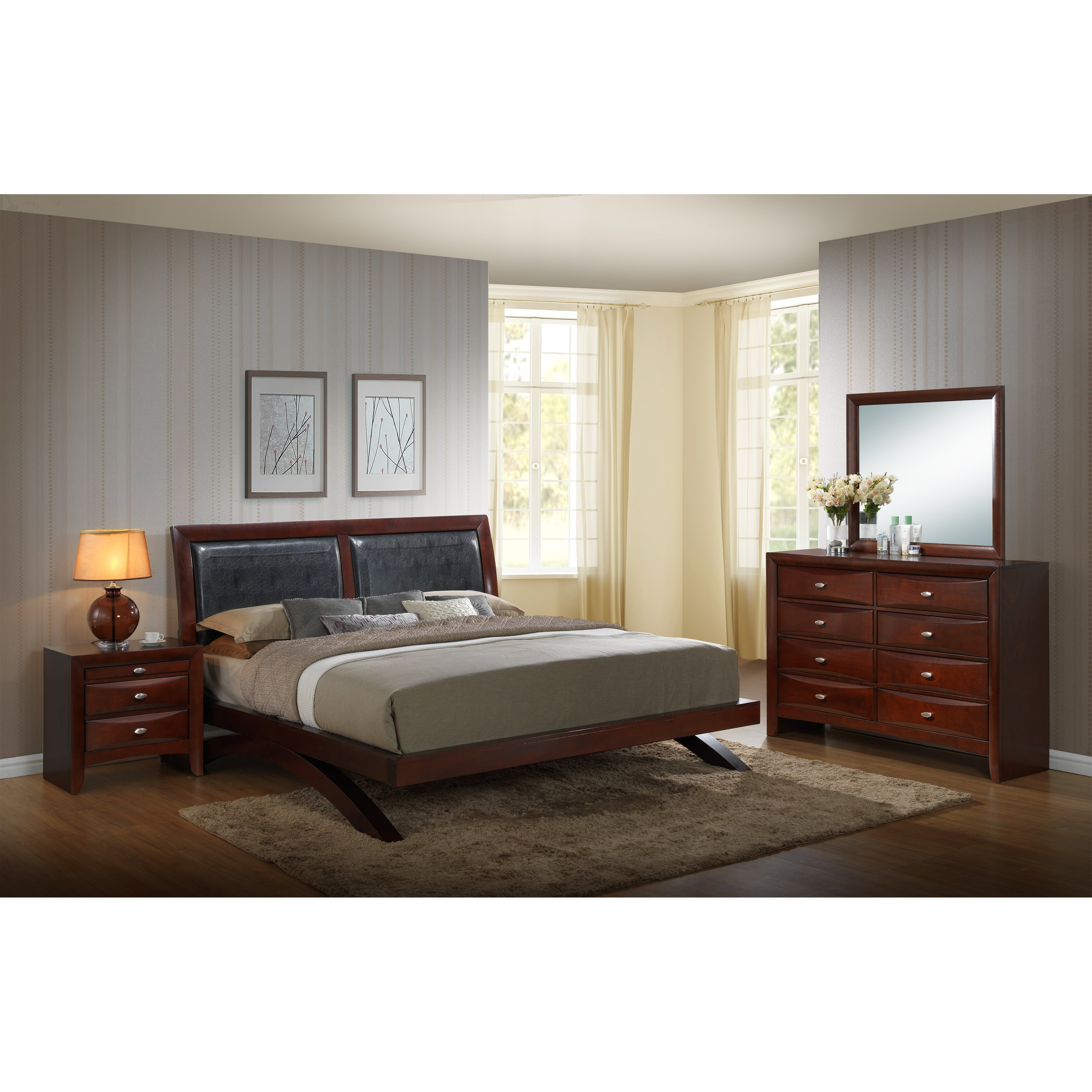 Best Roundhill Furniture Emily Panel 4 Piece Bedroom Set Wayfair With Pictures